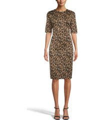 anne klein animal-print sheath dress