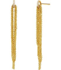 adriana orsini 14k women's eclipse 14k gold & diamond draped chain earrings