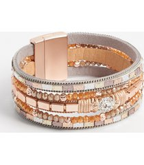 maurices womens rhinestone multi row magnetic bracelet