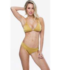 bikini dorada agua con gas