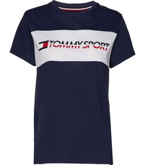 logo driver t-shirt t-shirts & tops short-sleeved blå tommy sport