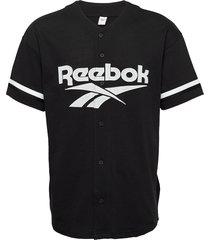 cl d baseball jersey t-shirts short-sleeved svart reebok classics