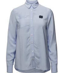 magdalena blouse lange mouwen blauw baum und pferdgarten