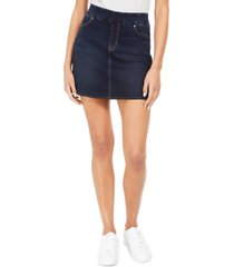 style & co petite pull-on fray skort, created for macy's