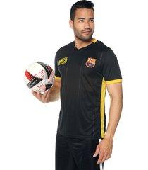 camiseta negro-amarillo barcelona