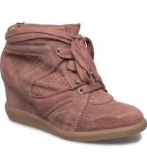 vibe shoes boots ankle boots ankle boot - heel rosa pavement
