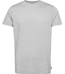 bamboo r-neck tee fsc t-shirts short-sleeved grå resteröds
