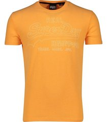 superdry t-shirt opdruk oranje