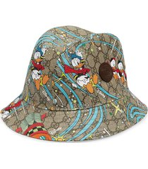 gucci x disney donald duck supreme canvas fedora - neutrals