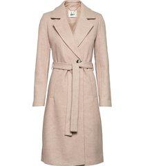 onlgina wool wrap coat cc otw wollen jas lange jas beige only