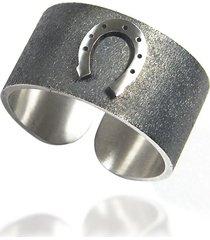 obrączka srebro 925, podkowa