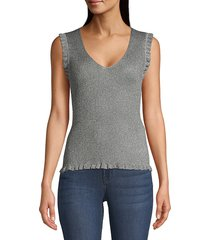 m missoni women's lurex knit tank - silver - size 46 (10)