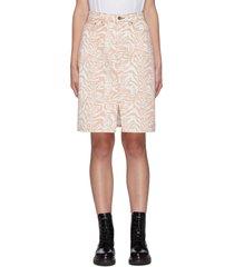 'harriett' zebra print denim mini skirt
