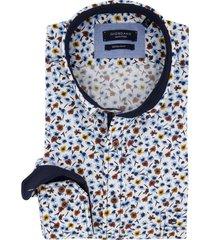 giordano overhemd bloemen lichtblauw regular fit
