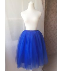 cobalt blue high-waisted women tutu skirt blue wedding bridesmaid tutu skirt nwt