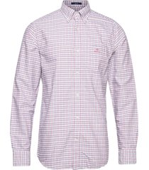 d1. oxford check reg bd overhemd casual rood gant