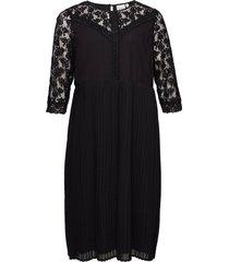 jrelysa 3/4 sleeve midi dress - k knälång klänning svart junarose