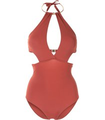 moeva leslie cutout swimsuit - red