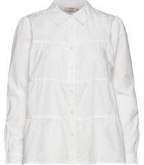 crmalinka shirt blus långärmad vit cream