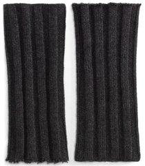 dolce & gabbana chunky-knit wrist warmers - grey