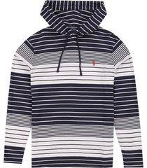 camiseta newport navy/classic polo ralph lauren ml rayas ppc capota