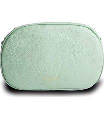 bolsa pochete transversal  house of caju couro alta qualidade prã¡tica verde - verde - feminino - dafiti