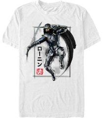 marvel men's avengers infinity war painted ronin action shot short sleeve t-shirt