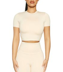 the nw high-neck crop top