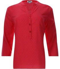 blusa estampada pepas color rojo, talla s