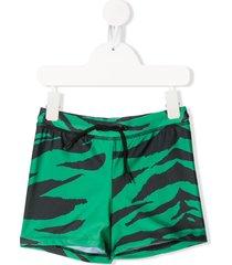 mini rodini tiger print swim shorts - green