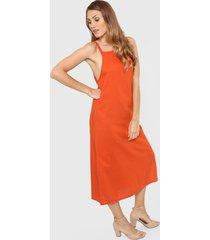 vestido naranja felisa manzanillo