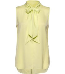 satin stretch - marley ss blouse mouwloos geel sand