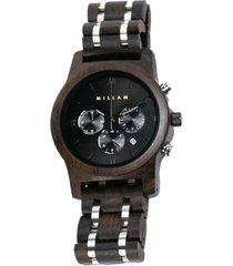 reloj elegante madera negro millam