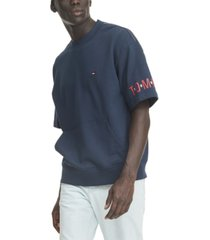 tommy hilfiger denim men's donnie logo short sleeve sweatshirt
