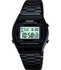 relógio digital casio unissex - b640wb1-adf preto