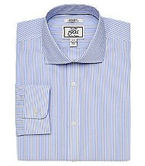 1905 collection tailored fit cutaway collar stripe dress shirt - big & tall clearance, by jos. a. bank