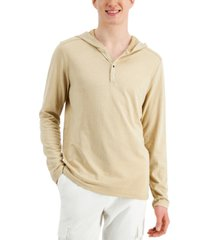 inc men's jacquard ribbed hoodie, created for macy's
