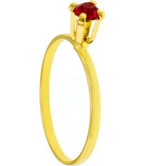 anel horus import solitário rosa pink dourado
