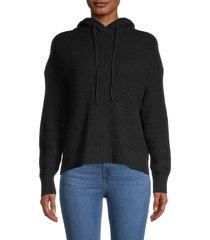 rd style women's knit hoodie - black - size s