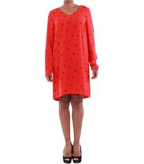 jurk vero moda 10191185 vmsissy 3/4 mini dress d2 lcs flame scarlet