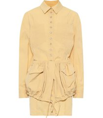 la robe cueillette buttoned yellow dress