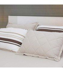 conjunto de lençol king pertutty 100 porcento algodão toque macio