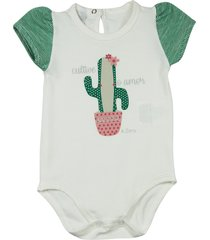 body ano zero bebê cotton cactos cultive o amor natural