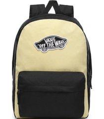 mochila mujer realm backpack amarillo vans