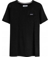 koszulka pocket tee burnt black