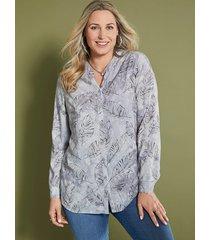 blouse miamoda grijs