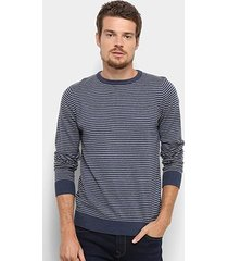 suéter jab listrado classic masculino