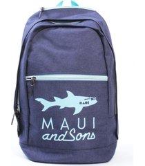 mochila escolar azul maui and sons