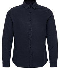 tencel slub texture slim shirt overhemd casual blauw j. lindeberg