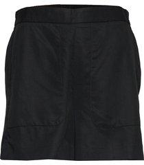 high-rise 4 tencel™ pull-on short shorts flowy shorts/casual shorts svart banana republic